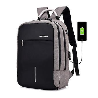 USB-laddning anti stöld ryggsäck för män
