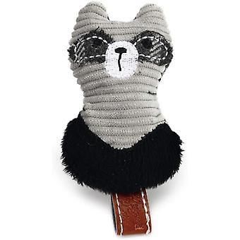 Designed By Lotte Textile Cat Toy Raccoon - Grey - 8.5cm