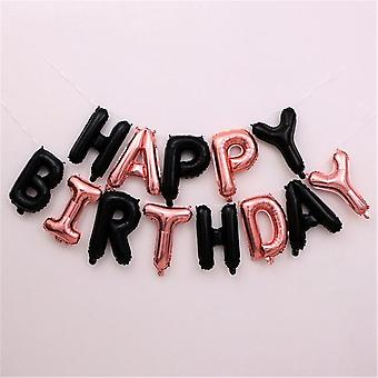 رسائل عيد ميلاد سعيد - بالونات الألومنيوم احباط لحفلة عيد ميلاد