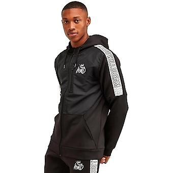 Kings Will Dream | Kwd Lunwell 1359 Panneau réfléchissant Bande Poly Hood Track Top - Noir