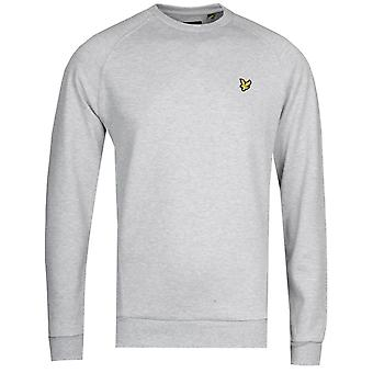 Lyle & Scott Raglan Pique Sweatshirt - Grey Marl