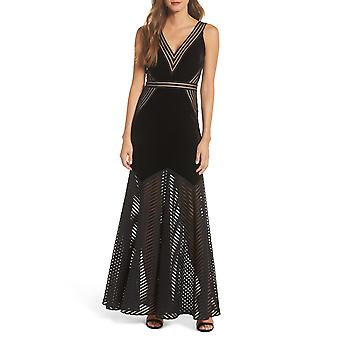 Xscape | Illusion Crepe Gown