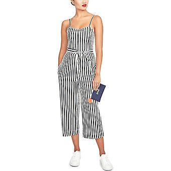 RACHEL Rachel Roy | Sleeveless Striped Cropped Jumpsuit