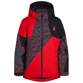 Spyder AMBUSH Boys Repreve PrimaLoft Ski Jacket Red