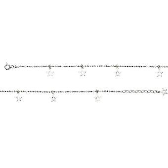 Beginnings Sterling Silver Star Ankle Chain K204