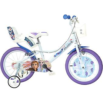 Dino Bikes Disney Frozen 2 16inch Bicycle With Training Wheels