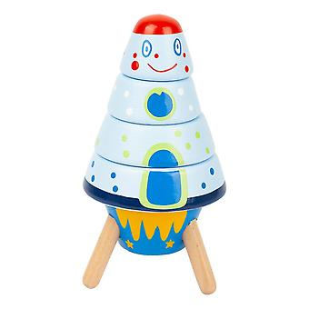 Legler Small Foot Children's Stacking Space Rockets Play Set (11450)