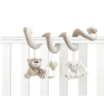 Lit bébé Musical Mobile Soft Peluche Rabbit Cot Poussette Suspendu Rattle Toy
