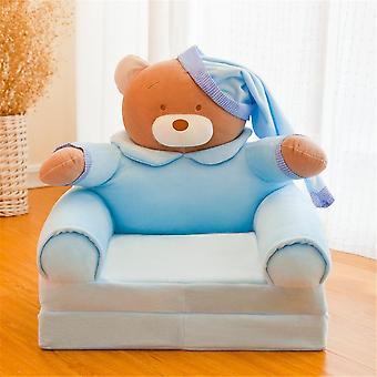Barn liten soffa omslag tecknad prinsessa baby fällbar säte, vilstol singel