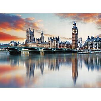 Tapet väggmålning Big Ben London