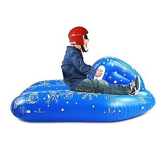 Inflatable Snow Tube Large Snowboat Winter Skating Snow Sled Boat Toy  (blue)