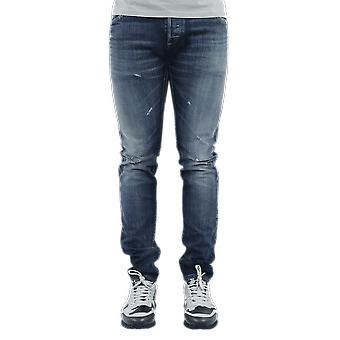 Balmain  Selvedge Slim Jeans-Vi Blue UH15230Z0086AA Pants