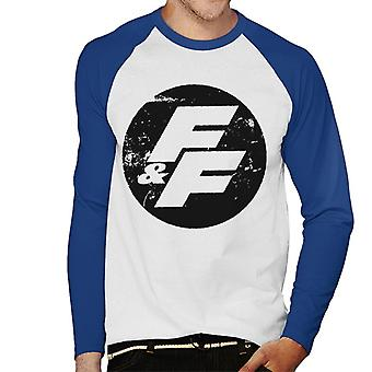 Fast and Furious FF Vintage Logo Men-apos;s Baseball Long Sleeves T-Shirt
