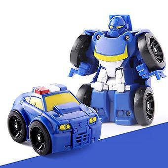 Mini Transformation Robot Car Assembling Building Blocks Aircraft Robot Pocket