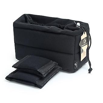 Koolertron pehmustettu dslr kamera aseta iskunkestävä kamera laukku aseta kameran osio suojapussi fo