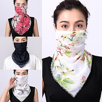 Women Choffin Face Mouth Scarf, Sun Protection Scarves, Neck Cover Solid Hiking