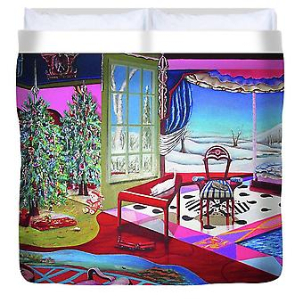 Christmas Painting - Duvet Cover