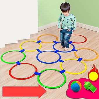 Children Jumping Lattice Circle Toy Ring Sense Integration Training Equipment Indoor Sports Sports Household