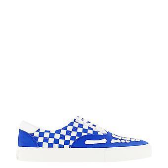 Amiri F0f22144clbluewhite Män's Vit/blå Tyg Sneakers