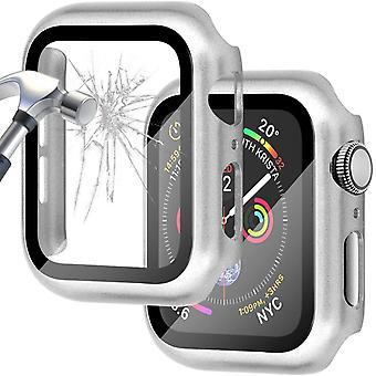 Case+tempered Glass For Apple Watch Screen Protector Coverage Bumper Case