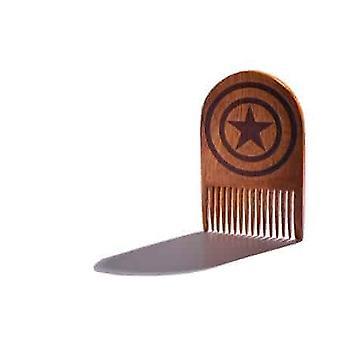 Captain America Wooden Beard Comb