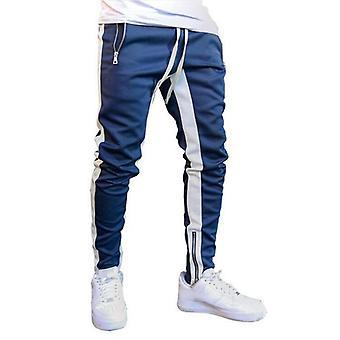 Men Joggers Zipper Casual Pants Fitness Sportswear Tracksuit Bottoms Skinny