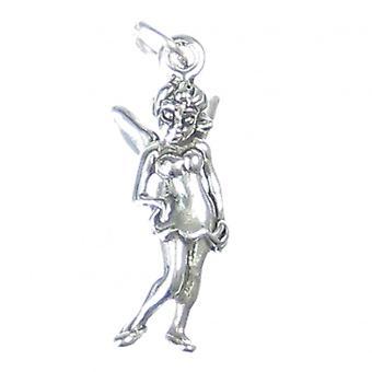 Fairy Sterling Silver Charm .925 X 1 Fairies Fairys Charms - 2127