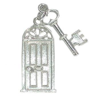 Ovi ja avain Sterling Hopea Charm .925 Keys Ovet Charms - 49