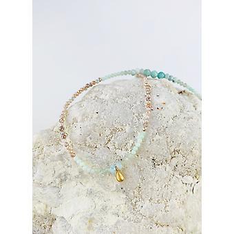 """Colier de smarald & piatră de lună 18"""""""