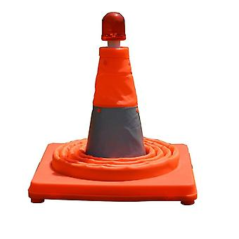 50cm Telescopic Folding Road Cone Barricades Warning Sign Reflective Oxford