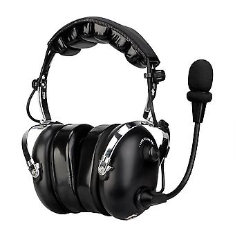 Retevis Black EH070K 2 Pin Binaural Noise Reduction Headphone Headset voor Kenwood