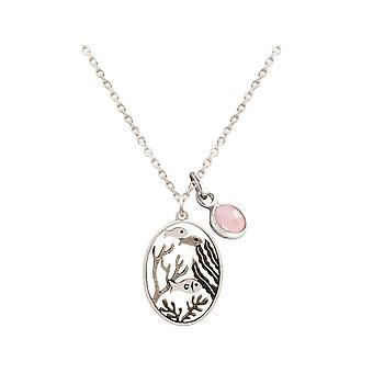 Halskette Maritim Unterwasser Welt in 925 Silber, vergoldet oder rose ROSENQUARZ