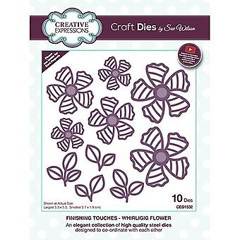 Creative Expressions Finishing Touches Collection Cutting Dies - Whirligig Flower