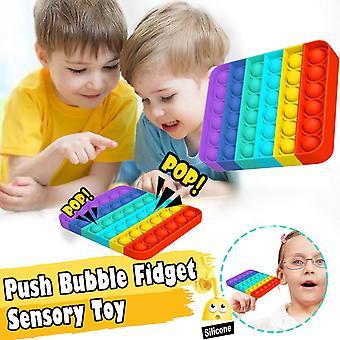 Regenboog kleuren Push Bubble Grappige Popit Fidget Speelgoed Volwassen Kinderen Antistress Speelgoed Push Bubble Sensorisch Speelgoed Autisme Speciale Behoeften Stress Speelgoed