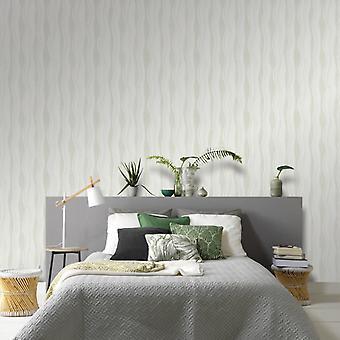 vidaXL wallpaper rolls fleece 4 pcs. white 0.53×10 m waves