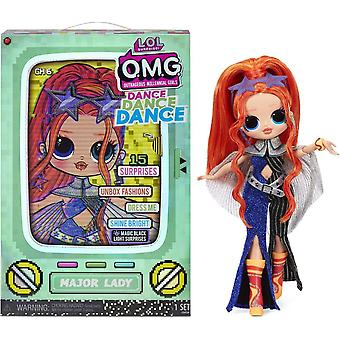 ¡Sorpresa de L.O.L! O.M.G Mayor Lady Dance Doll con 15 sorpresas