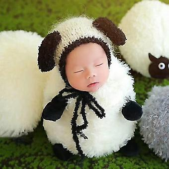 Baby Newborn Photography Props, Costume, Cartoon Knit Hat Pant Set