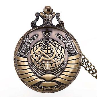 New Leader Quartz Pocket Watches Necklace Chain Pendant Silver Pocket Watches
