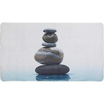 badvorleger Meditation 45 x 75 cm grau/blau