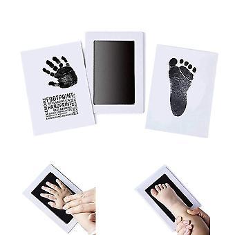 Vauvan jalanjälkikortti, käsinpainatus mustetyyny, leima myrkytön, musteton,