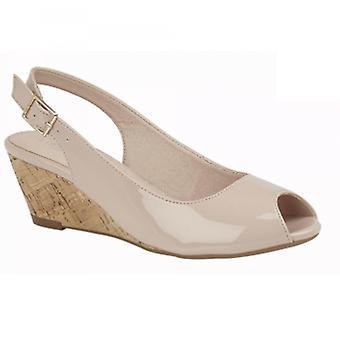 Cipriata Leana Ladies Wedge Heel Sandals Nude
