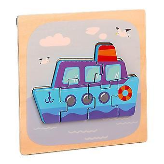 3D الألغاز لعب الأطفال التعليم الفكري بانوراما هدية السفينة pt100