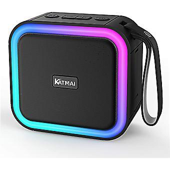 Kabelloser Bluetooth Lautsprecher, F50,Verlaufslicht, Bluetooth 5.0, Bass-up, IPX7 wasserdicht,