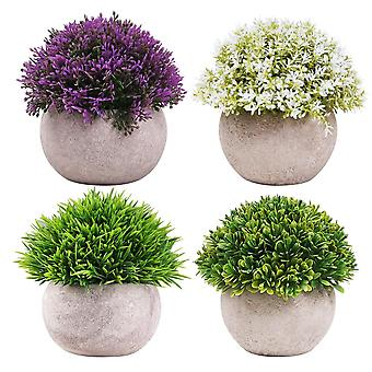 Keinotekoinen kasvi 4 tyyliä 4 asettaa väärennettyjä kasveja