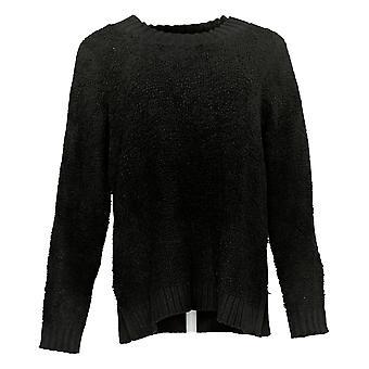 LOGO by Lori Goldstein Women's Sweater Mixed Media Black A385274
