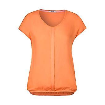 Cecil 314706 Indra T-Shirt, Orange Melon, X-Small Woman