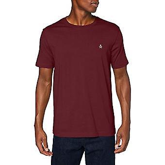 ORIGINAL PENGUIN Embroidered Logo Tee T-Shirt, Tawny Port 608, Small Man