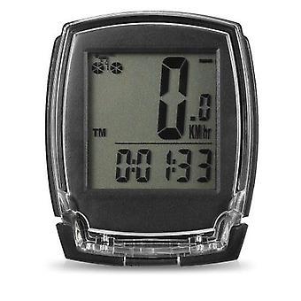 Wireless Bike Computer Speedometer Digital Bicycle Odometer Stopwatch Thermometer EL Backlight
