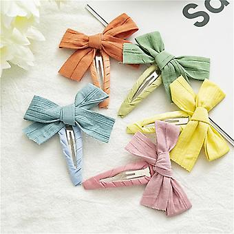 5Pcs candy color children butterfly baby barrettes side barrettes
