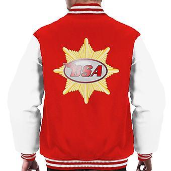 BSA rot Logo Abzeichen Herren Varsity Jacke